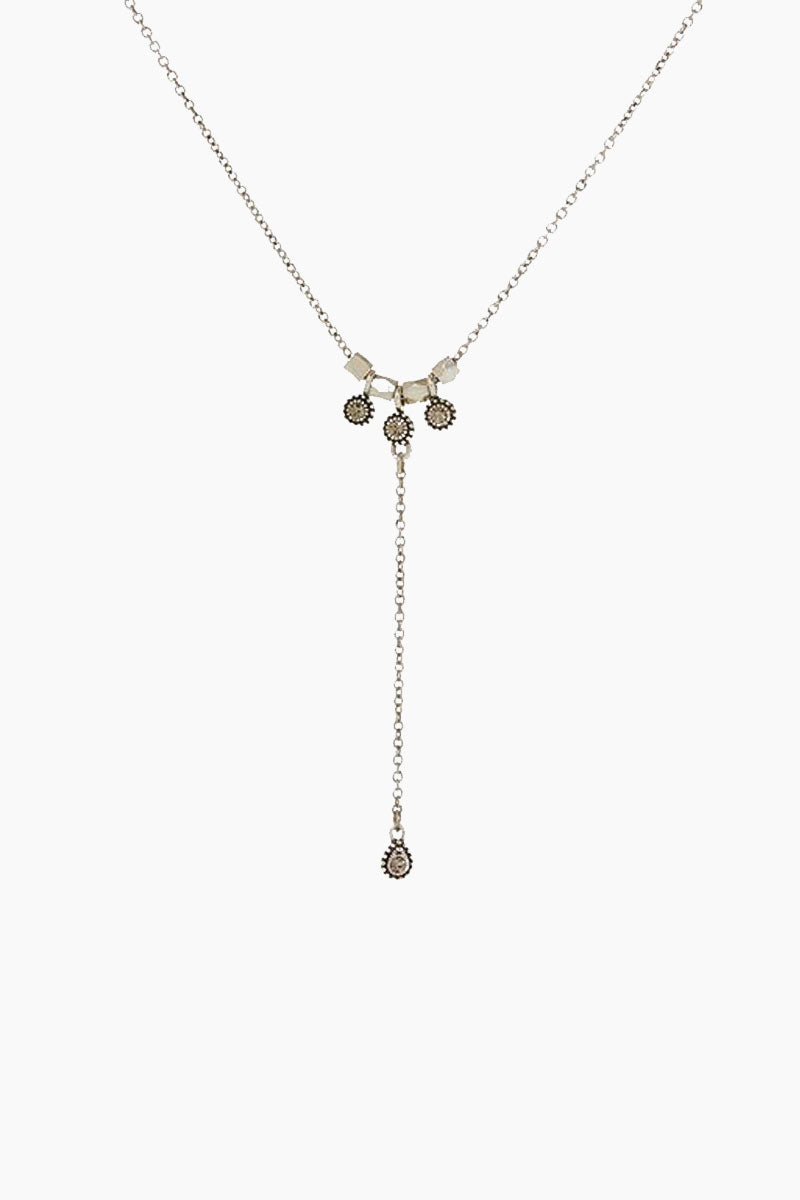 """LUV AJ The Moroccan Stud Lariat - Silver Jewelry 