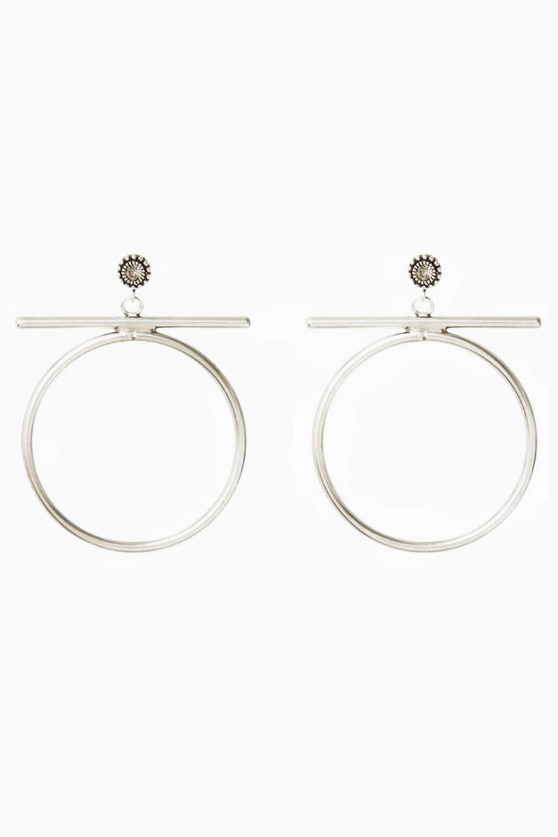 """LUV AJ The Moroccan Stud Statement Hoops - Silver Jewelry 