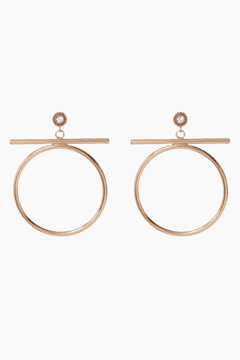 """LUV AJ The Moroccan Stud Statement Hoop Drop Earrings - Rose Gold Jewelry 