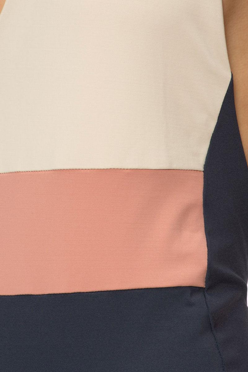 TAVIK Chase Reversible Color Block Halter One Piece Swimsuit - Tapioca White/Pink/Navy Blue & Tapioca White One Piece | Tapioca White/Pink/Navy Blue & Tapioca White|  Chase Reversible Color Block Halter One Piece Swimsuit - Tapioca White/Pink/Navy Blue & Tapioca White Deep-V neckline mid-rise leg cuts Adjustable halter straps open scoop back skimpy coverage. Front View