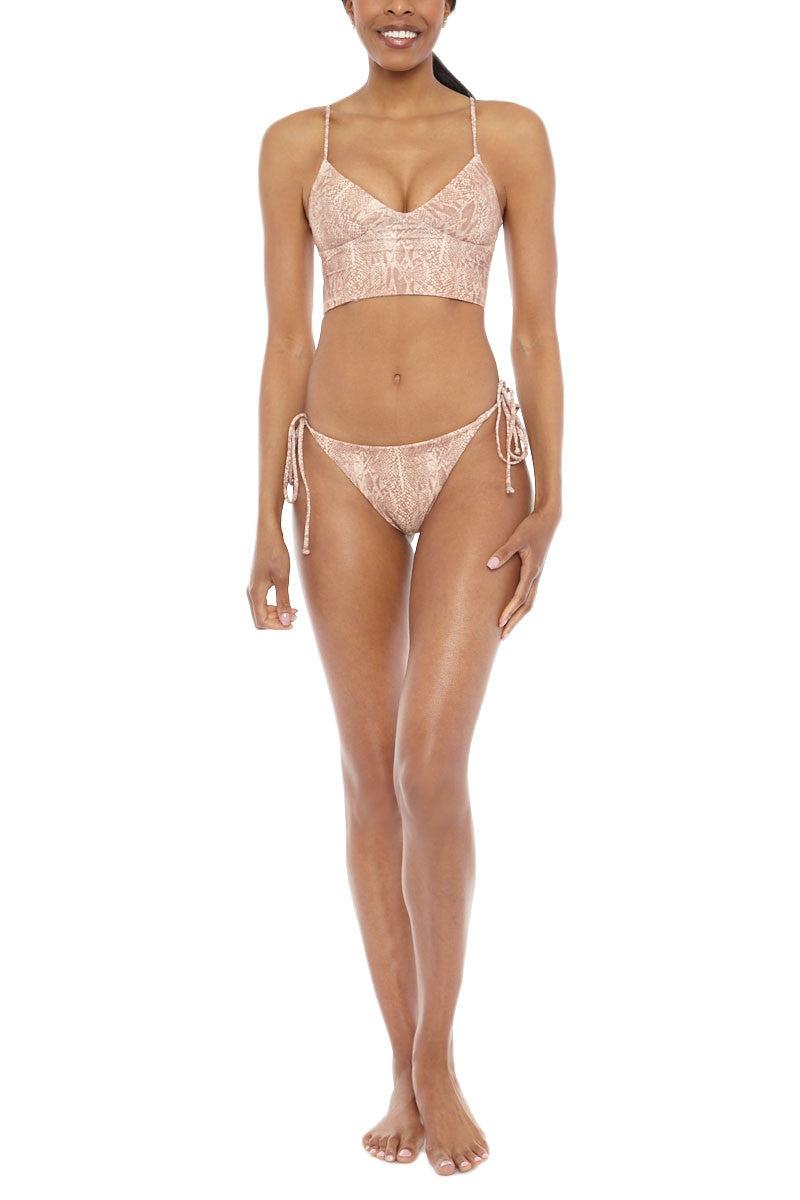TORI PRAVER Jess Top Bikini Top | Snake Naked| Tori Praver Jess Bikini Top