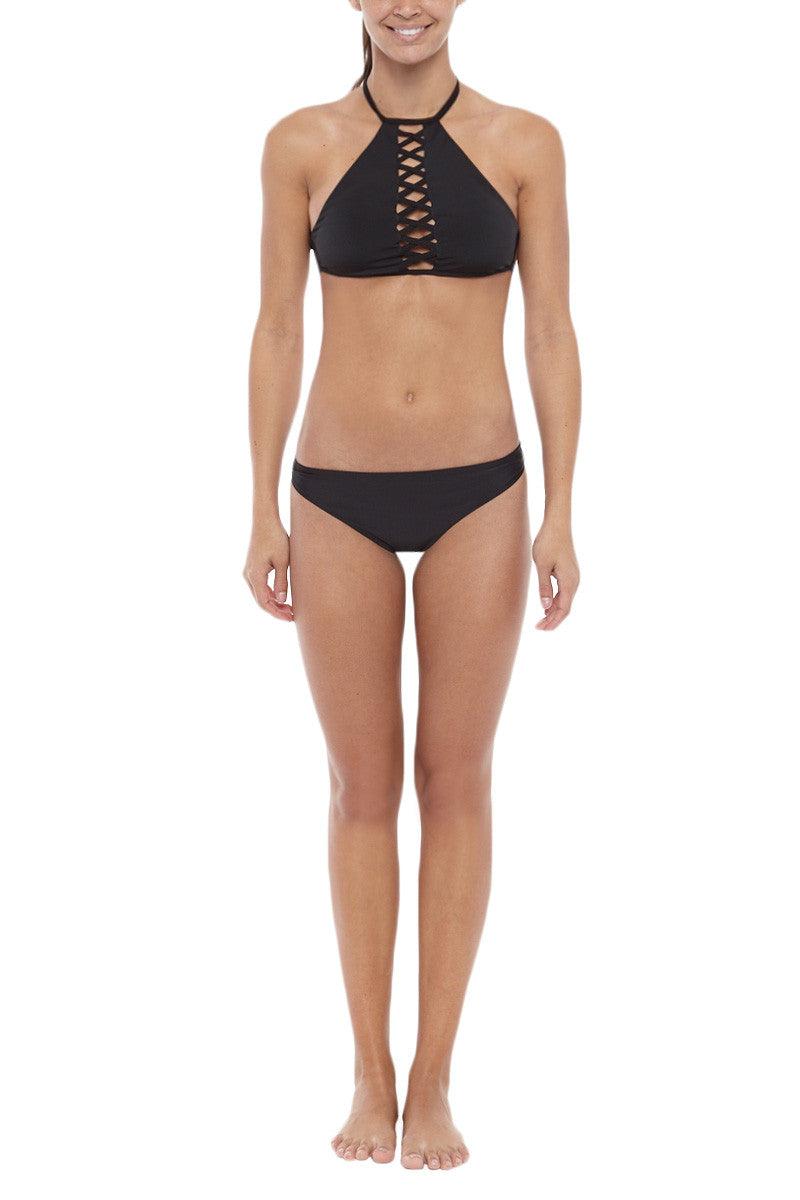 TOWERS SWIMWEAR Scrunch Cheeky Bikini Bottom - Black Bikini Bottom | Black| Towers Swimwear Scrunch Cheeky Bikini Bottom - Black Scrunch bottom Low rise  Cheeky coverage  Front View