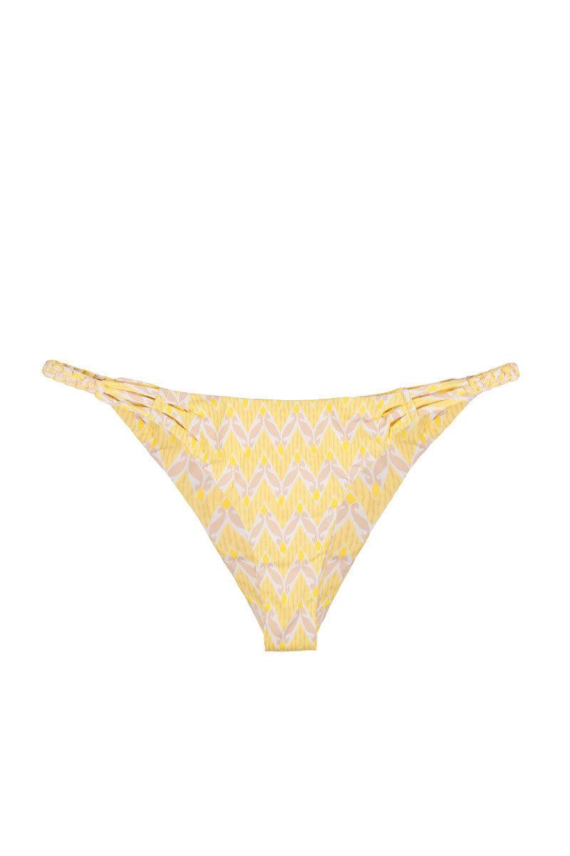 FRANKIES BIKINIS Luna Classic Bottom Bikini Bottom | Yellow Print| Frankies Bikinis Luna Classic Bikini Botom