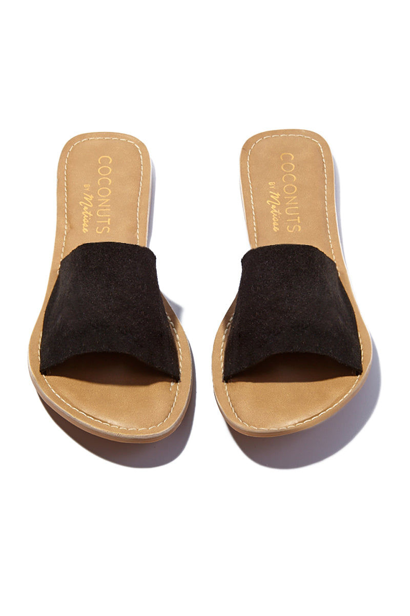 MATISSE Cabana Suede Sandals - Black Sandals | Matisse Cabana Suede Sandals - Black  Upper: Leather / Black Suede   Outsole: Man Made Synthetic Leather Lining   Padded Insole