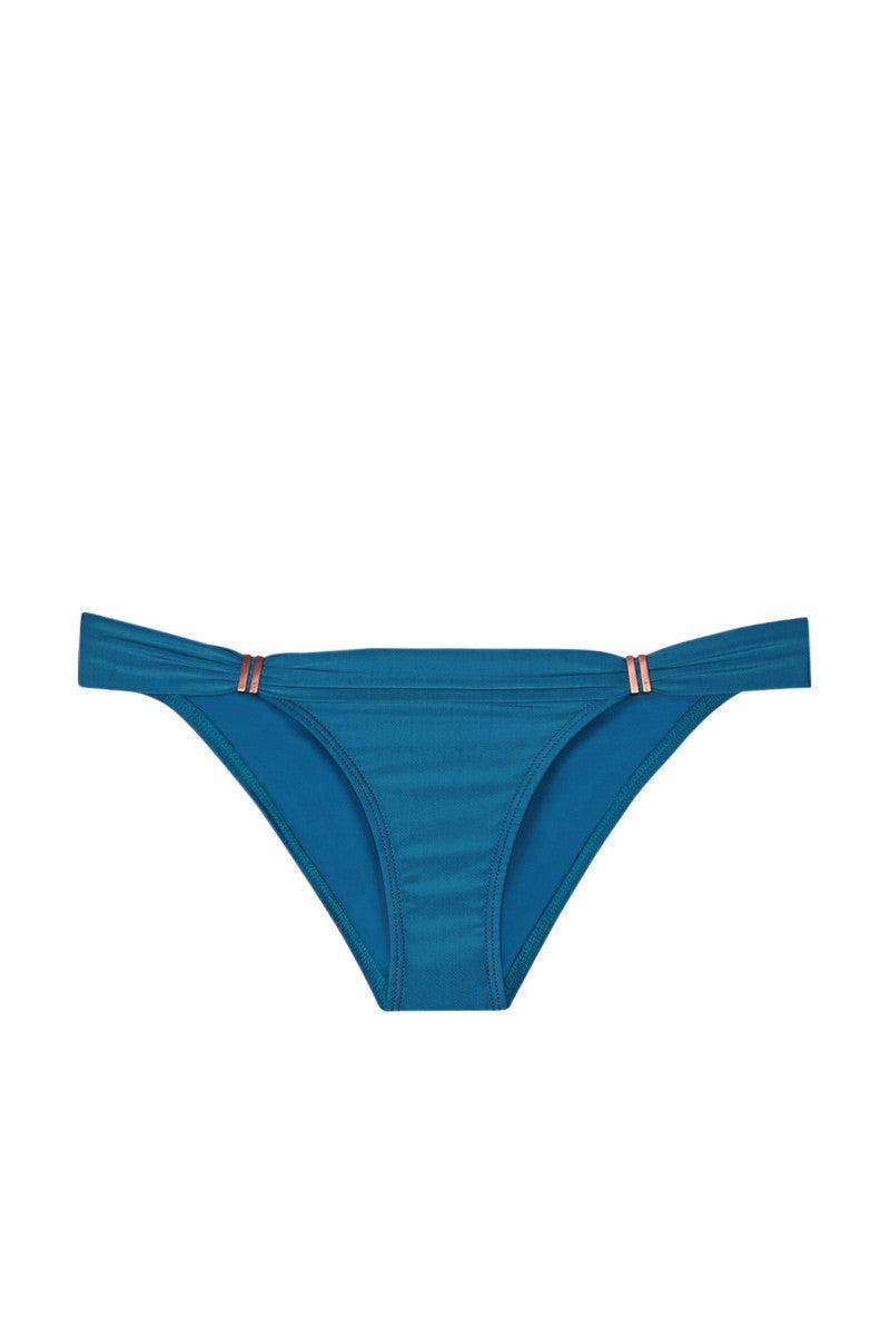 VIX SWIMWEAR Bia Tube Sliding Straps Full Bikini Bottom - Imperial Blue Bikini Bottom | Imperial Blue| Vix Swimwear Bia Tube Sliding Straps Full Bikini Bottom - Imperial BlueFeatures - Low-rise moderate bikini bottom in deep turquoise blue Front View