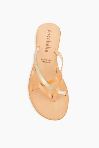 COCOBELLE Vivi Sandals - Sand Sandals | Sand| Cocobelle Vivi Sandals - Handmade in Italy, the Vivi sandal embodies the simplicity of the Mediterranean. Featuring a strappy thong construction this sandal was designed to see you through day to day life and your adventures beyond.    100% Leather  Handmade in Italy  Front View