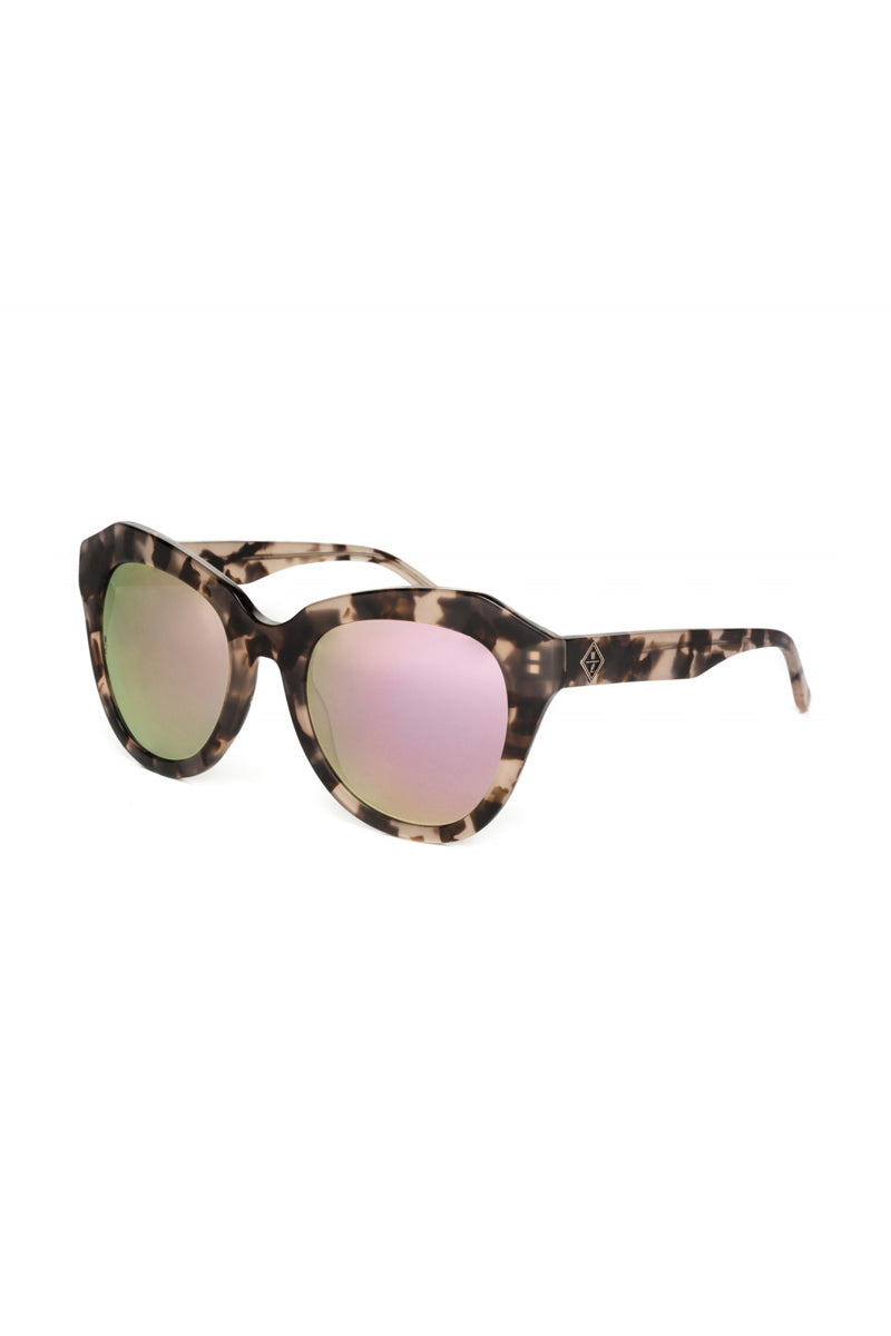WONDERLAND SUNGLASSES Calexico Sunglasses - Mirror Rose Tortoise Sunglasses | Mirrored Rose Tortoise| Wonderland Sunglasses Calexico Sunglasses - Mirror Rose Tortoise Angeled View