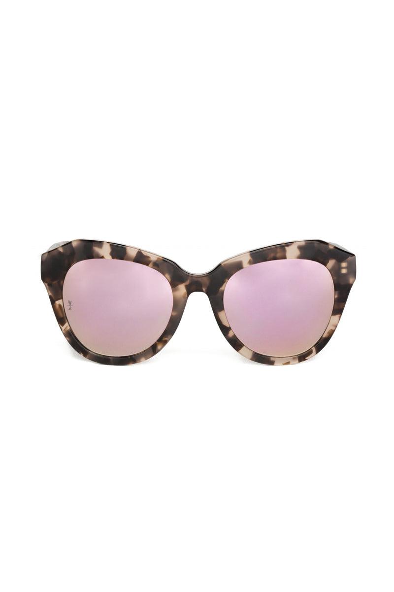 WONDERLAND SUNGLASSES Calexico Sunglasses - Mirror Rose Tortoise Sunglasses   Mirrored Rose Tortoise  Wonderland Sunglasses Calexico Sunglasses - Mirror Rose Tortoise Front View