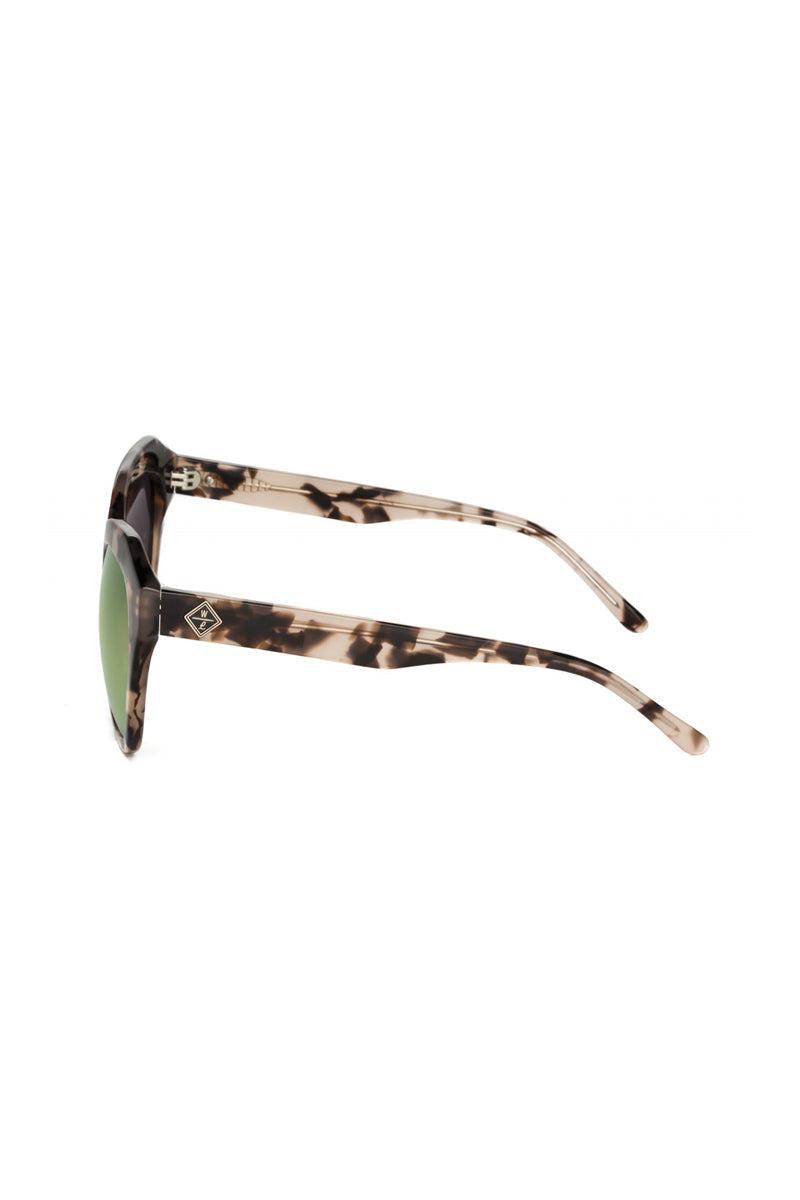 WONDERLAND SUNGLASSES Calexico Sunglasses - Mirror Rose Tortoise Sunglasses   Mirrored Rose Tortoise  Wonderland Sunglasses Calexico Sunglasses - Mirror Rose Tortoise Side View