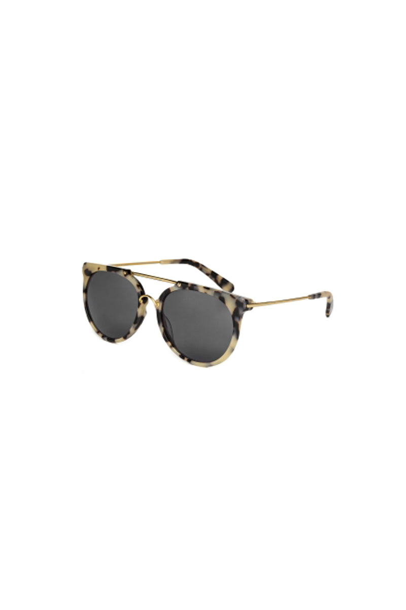 WONDERLAND SUNGLASSES Stateline Sunglasses - Cookies & Cream Sunglasses   Cookies & Cream  Wonderland Sunglasses Stateline Sunglasses - Cookies & Cream Angled View