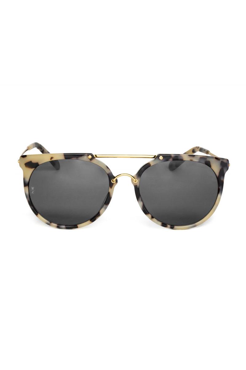 WONDERLAND SUNGLASSES Stateline Sunglasses - Cookies & Cream Sunglasses   Cookies & Cream  Wonderland Sunglasses Stateline Sunglasses - Cookies & Cream Front View