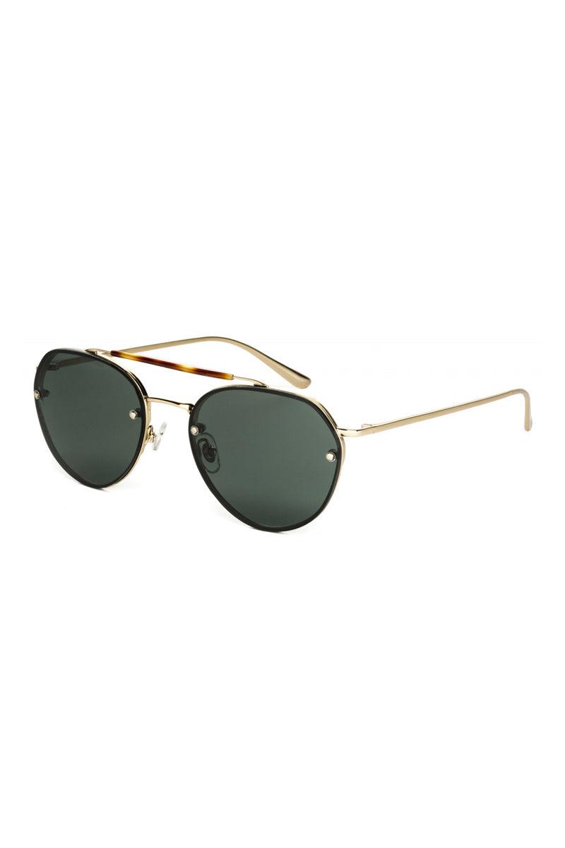 WONDERLAND SUNGLASSES Victorville Sunglasses - Shiny Gold Metal Sunglasses | Shiny Gold Metal | Wonderland Sunglasses Victorville Sunglasses - Shiny Gold Metal Angled View