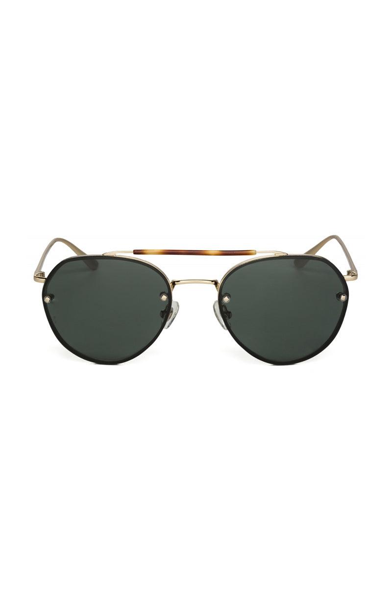WONDERLAND SUNGLASSES Victorville Sunglasses - Shiny Gold Metal Sunglasses | Shiny Gold Metal | Wonderland Sunglasses Victorville Sunglasses - Shiny Gold Metal Front View
