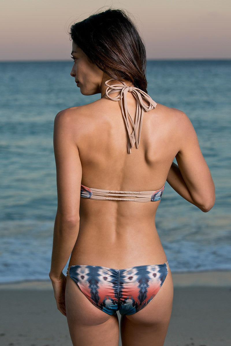 WATER GLAMOUR Inyo Braid Reversible Bottom Bikini Bottom | Tie-Dye/Nude|