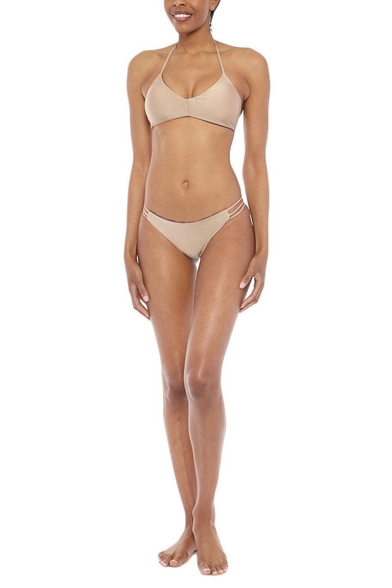 WATER GLAMOUR Reversible Mia Braided Bottom Bikini Bottom   Aubergine/Nude Water Glamour Mia Braided Bikini Bottom
