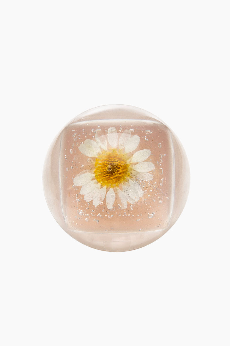 BLOSSOM Duo Lip Gloss Ball - White Flower Beauty | White Flower| Blossom Duo Lip Gloss Ball - White Flower Lip gloss clear ball  Goes on clear with white tint  Fresh floral blossom Closed View