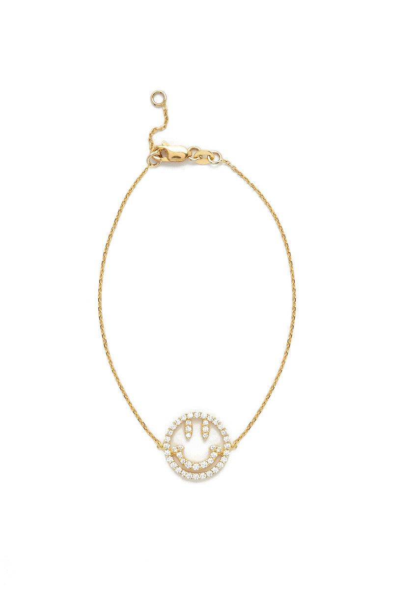 TALIA NAOMI Why so serious bracelet Jewelry | Yellow Gold| Talia Naomi Why So Serious Bracelet
