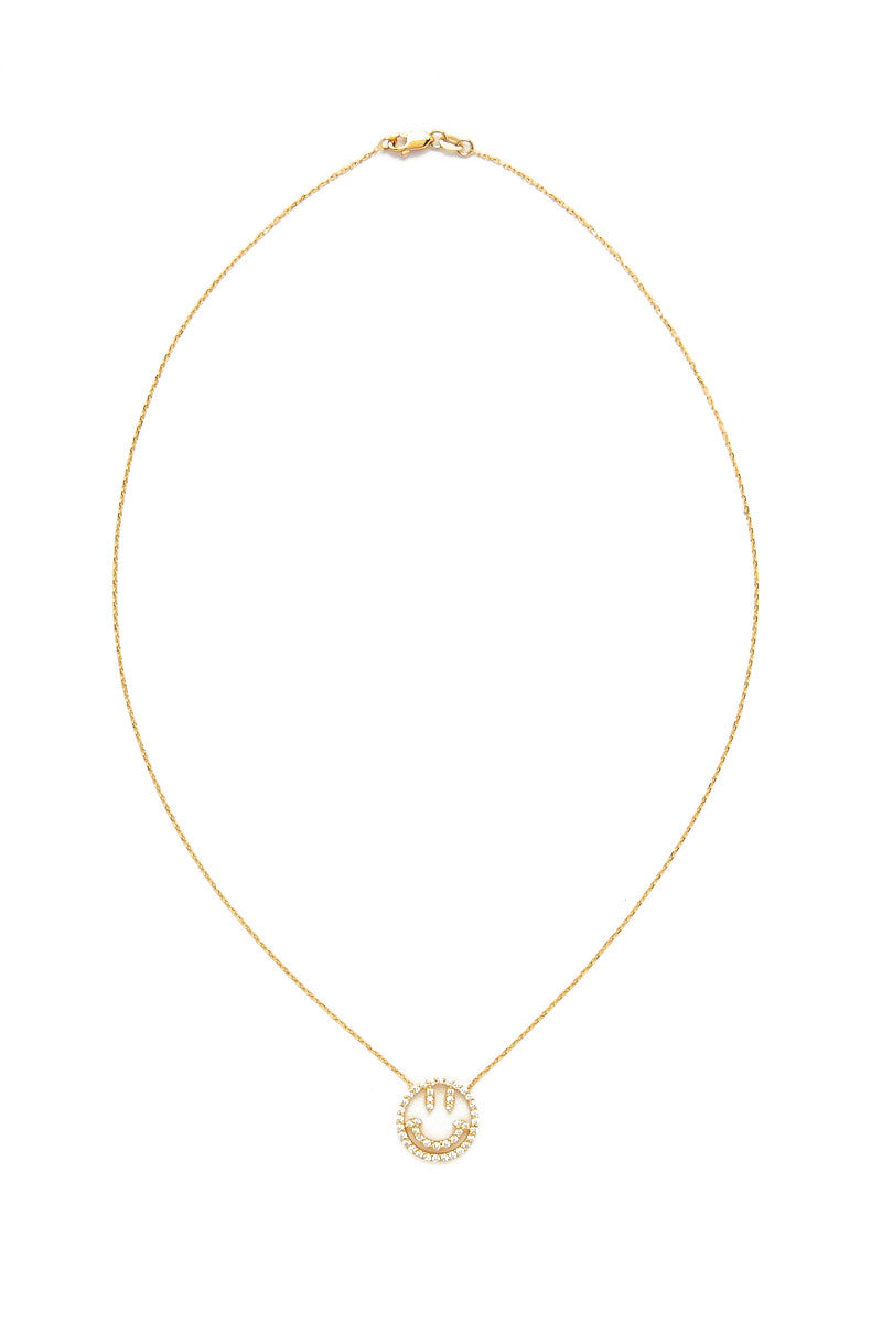 TALIA NAOMI Why So Serious Necklace Jewelry | Yellow Gold| Talia Naomi Why So Serious Necklace
