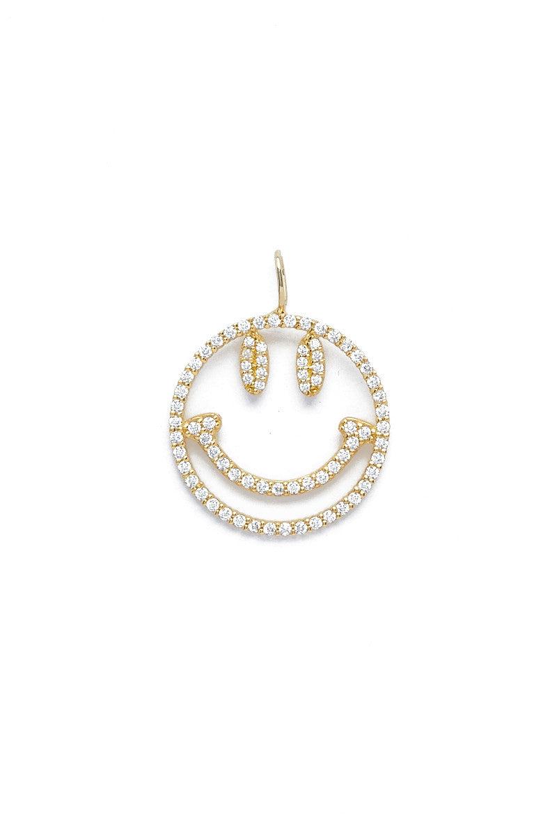 TALIA NAOMI Why so serious Pendant Jewelry   Yellow Gold  Talia Naomi Why So Serious Pendant