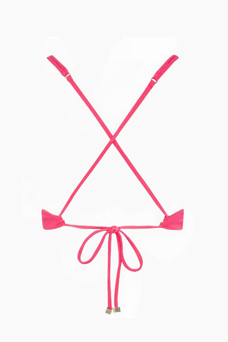 FELLA William Shakespeare Sporty Bikini Top - Fresia Bikini Top   Fresia William Shakespeare Top Back View - Features:  Sporty Top  Thin Spaghetti Straps Criss Cross Back Ties at Center Back
