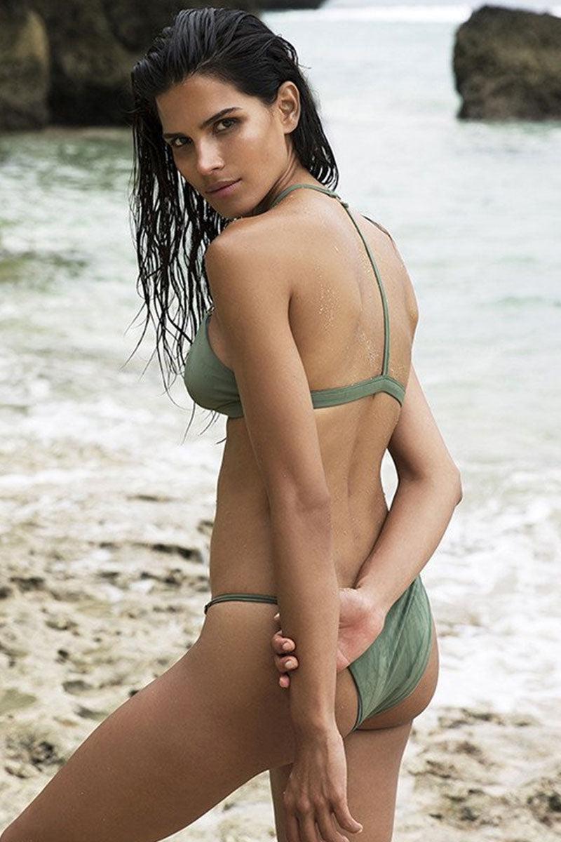 FELLA Xavier Bottom - Olive Bikini Bottom   Olive   Fella Xavier Bottom - Olive model back view