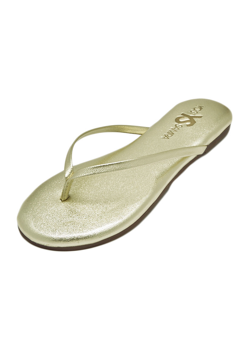 YOSI SAMRA Roee Sandals in Gold Sandals | Gold| Yoshi Roee Sandal