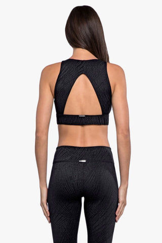 KORAL Zenith Maxen Sports Bra - Black Activewear | Black| Koral Zenith Maxen Sports Bra - Black. Features:  High neck Moderate coverage and support High performance High compression Cut-out open back Back View