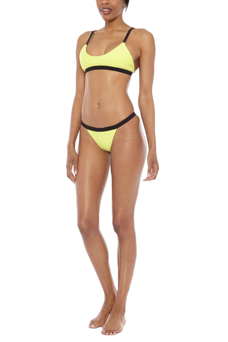 ZIGILANE Bae Watch Top Bikini Top | Yellow & Black| Zigilane Bae Watch Bikini Top