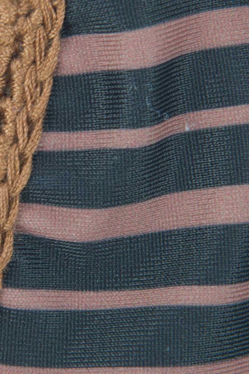 ACACIA Anini Crochet Side Tie Brazilian Bikini Bottom - Dark Classic Navy/Pink Bikini Bottom | Dark Classic|