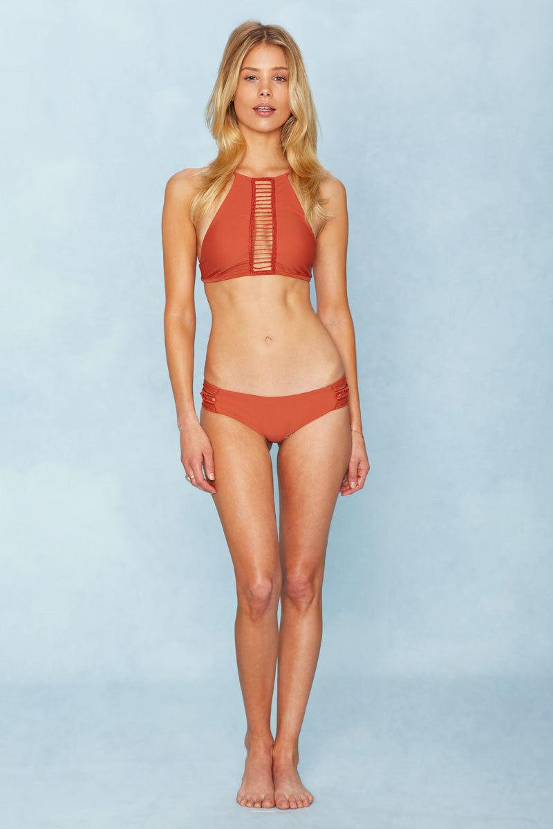 ACACIA Pikake Strappy Side Cheeky Bikini Bottom - Li Hing Mui Bikini Bottom | Li Hing Mui|