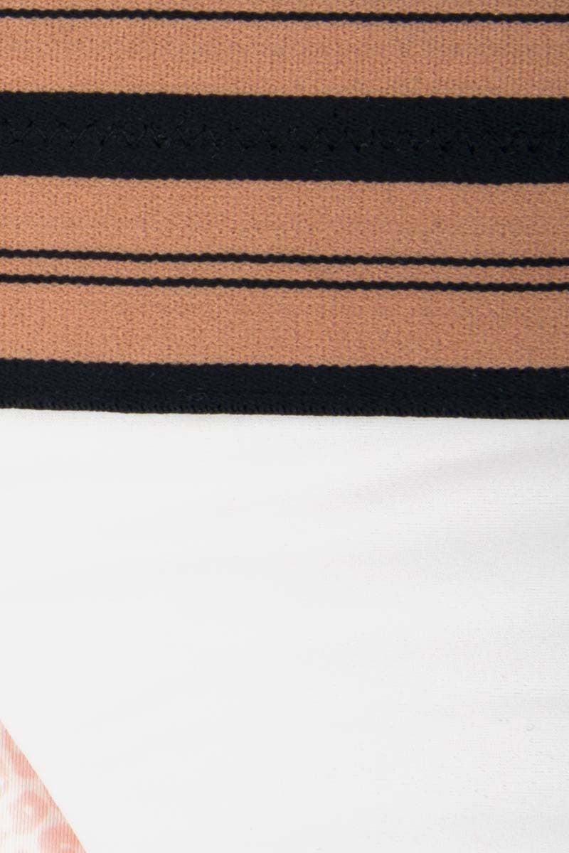 ACACIA Hamptons Thick Waist Band Bikini Bottom - Olympia Foam Pink/Black Bikini Bottom | Olympia Foam Pink/Black | Acacia Hamptons Thick Waist Band Bikini Bottom - Olympia Foam Pink/Black. Features: Thick elastic waist band. Brazilian coverage. Double lined. View: Close up, detailed view.