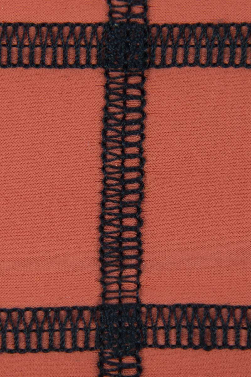 ACACIA Stitched Ho'okipa Skimpy Bottom - Stitched Li Hing Mui Bikini Bottom | Stitched Li Hing Mui|