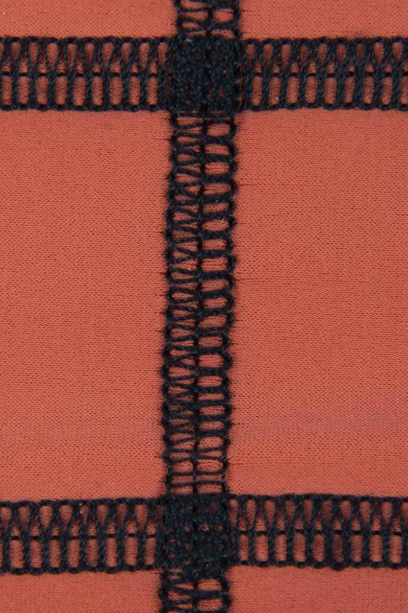 ACACIA Ho'okipa Brazilian Bikini Bottom - Li Hing Mui Bikini Bottom | Li Hing Mui| Acacia Ho'okipa Brazilian Bikini Bottom - Li Hing Mui. Features: Brazilian coverage. Stitched design. Double lined. View: Detailed, close up view.