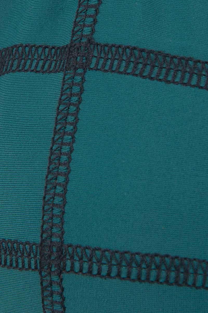 ACACIA Humuhumu Stitched Triangle Bikini Top - Seaweed Green Bikini Top | Seaweed Green | Acacia Stitched Humuhumu Triangle Bikini Top - Seaweed Green| No padding Stitched design Double lined Imported Italian Nylon/Spandex Front View