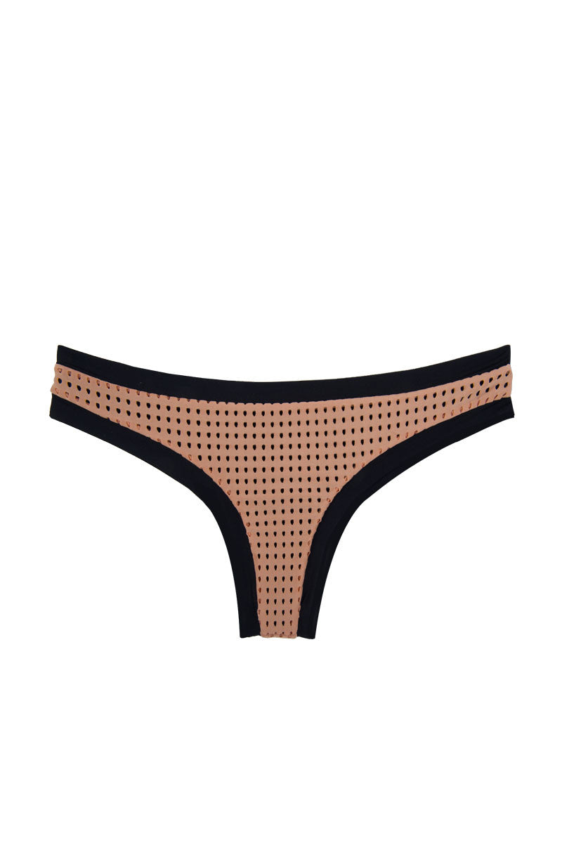 ACACIA Sao Paulo Color Block Mesh Bikini Bottom - Topless Bikini Bottom | Topless Mesh| Acacia Sao Paulo Bottom