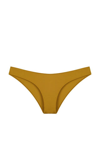 AMAIO SWIM Cafe De Paris Bikini Bottom Bikini Bottom | Gold|Amaio Cafe De Paris Bikini Bottom-Features:  Medium coverage Seamless  Hand wash 85% Nylon, 15% Elastane