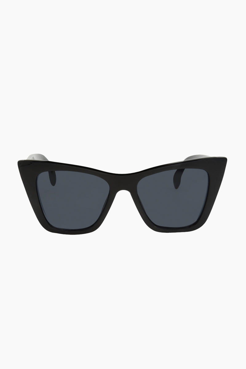 I-SEA Ashbury Sunglasses - Black Sunglasses | Black| I-Sea Ashbury Sunglasses - Black Oversized Sunglasses  Frame Color: Black  Lens Color: Smoke  Front View