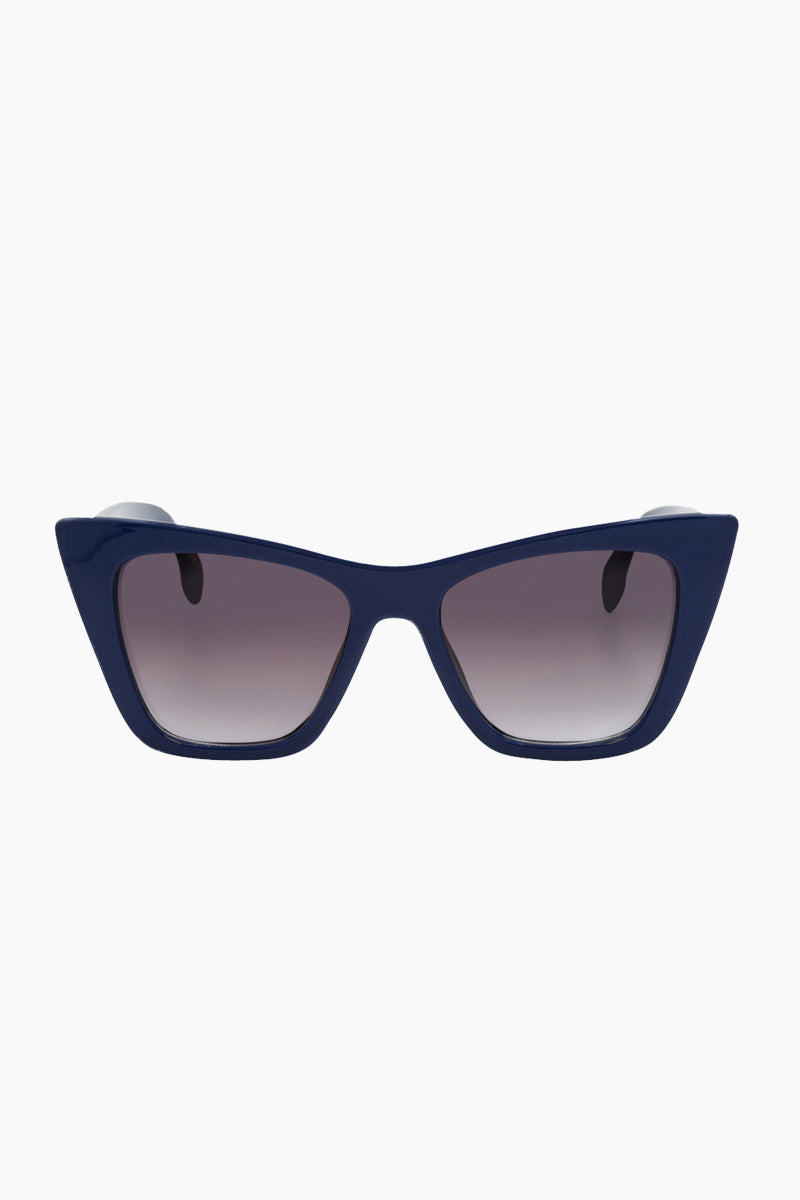 I-SEA Ashbury Sunglasses - Cobalt Sunglasses | Cobalt| I-Sea Ashbury Sunglasses - Cobalt Oversized Sunglasses Frame Color: Cobalt Lens Color: Smoke  Front View