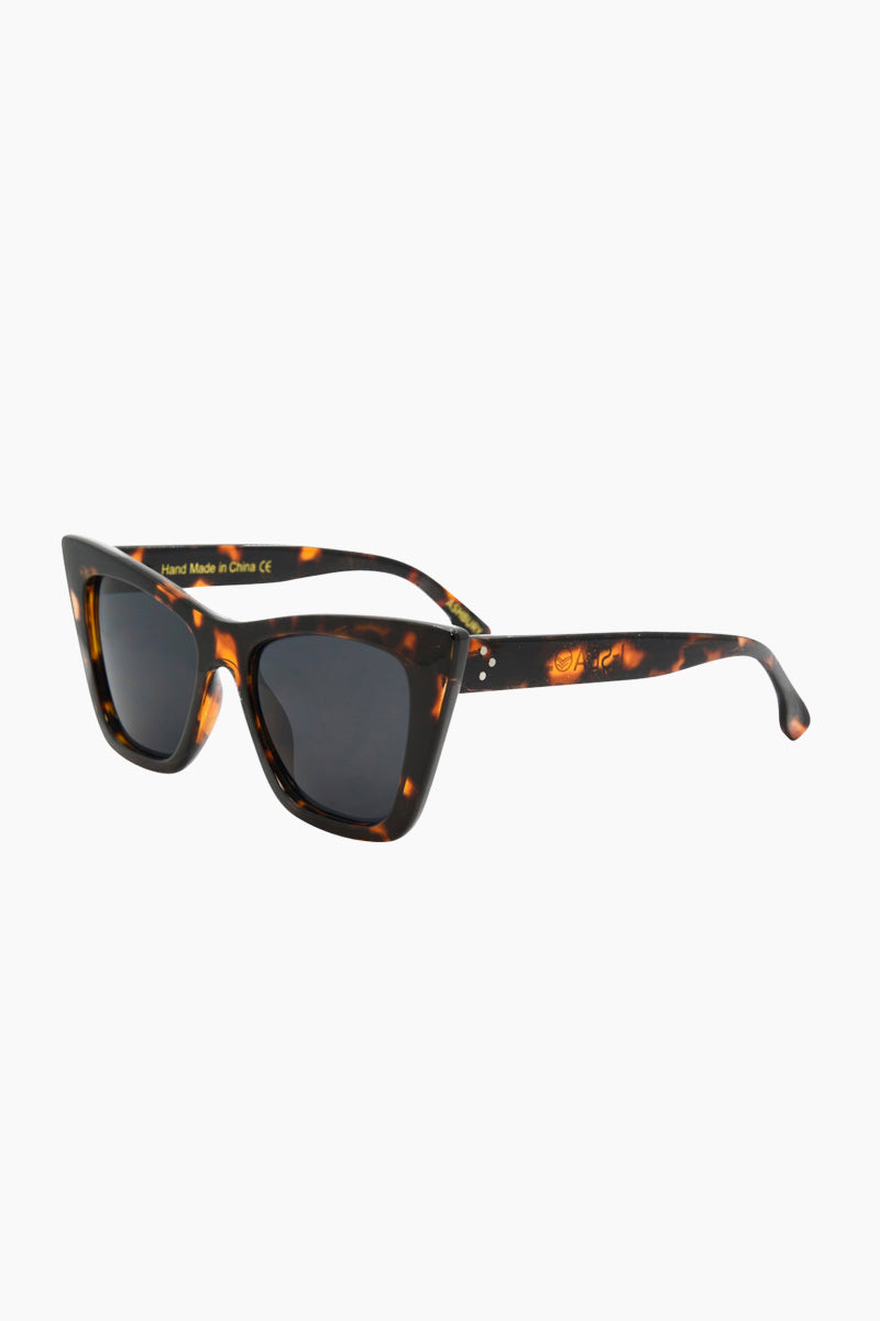 I-SEA Ashbury Sunglasses - Tortoise Sunglasses | Tortoise| I-Sea Ashbury Sunglasses - Tortoise Oversized Sunglasses Frame Color: Tortoise Lens Color: Smoke  Side View