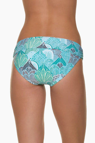 HELEN JON Fold Over Hispter Bikini Bottom - Dominica Print Bikini Bottom | Dominica Print| Helen Jon Fold Over Hispter Bikini Bottom - Dominica Print Mid-rise fold-over hipster moderate bikini bottom. Back View