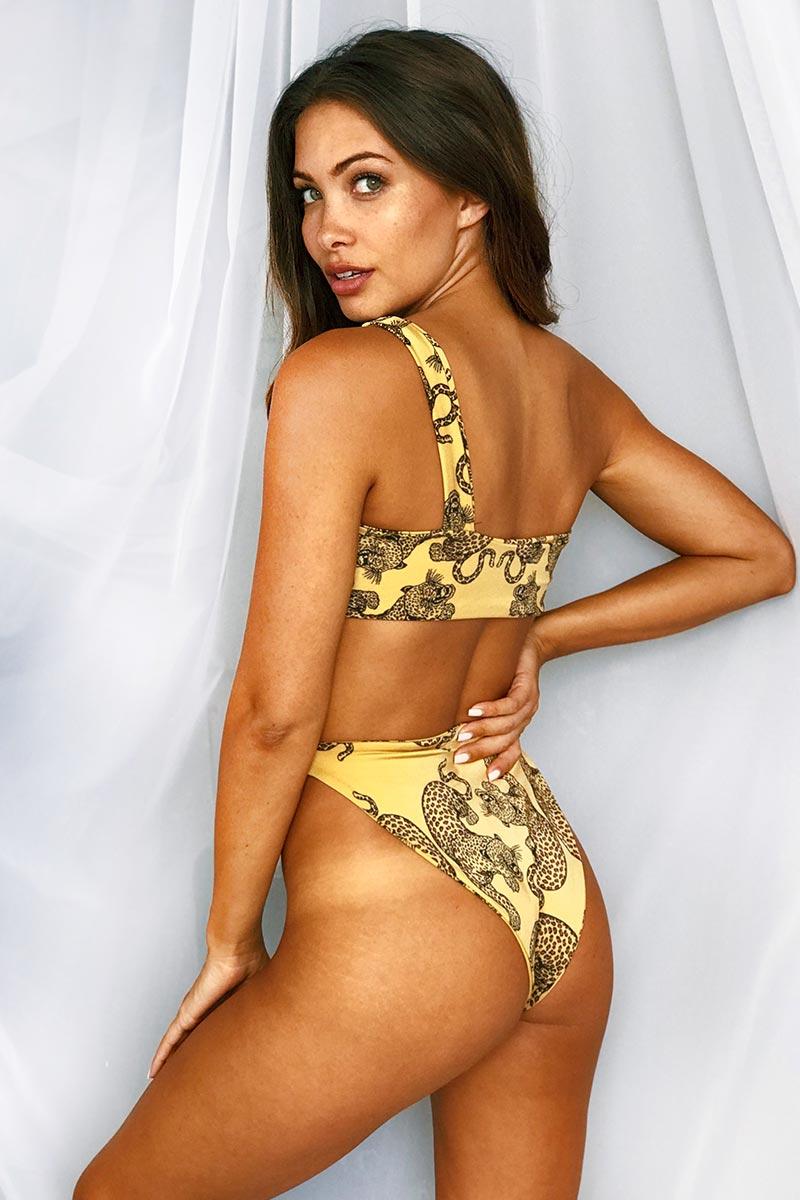 LEE + LANI 2019 High Rise Bikini Bottom - Leopard Bikini Bottom | Leopard|Lee + Lani High Rise Bikini Bottom -