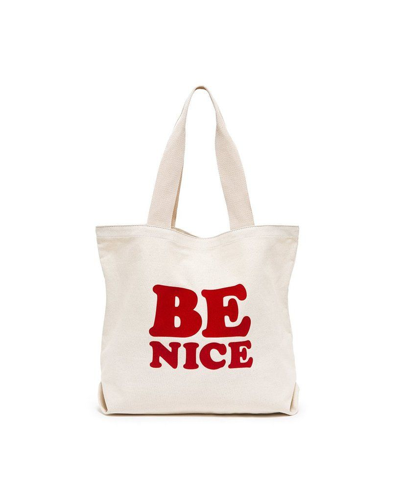 BAN.DO Be Nice Big Canvas Tote Accessories | White| Ban.do Be Nice Big Canvas Tote