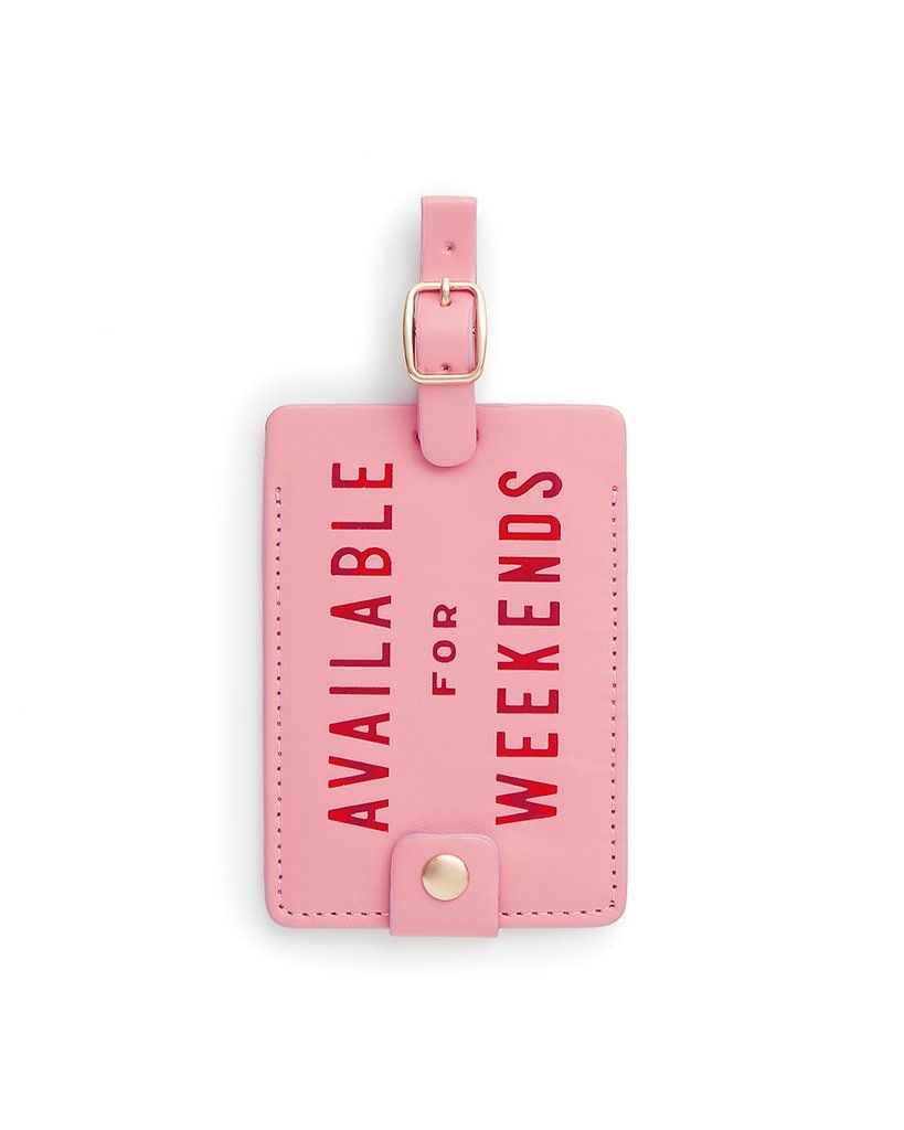 BAN.DO Availabe For Weekends Getaway Luggage Tag Accessories | Pink| Ban.do Availabe For Weekends Getaway Luggage Tag