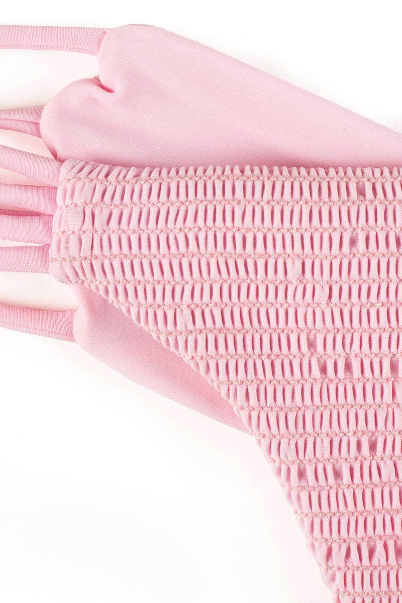BETTINIS Pink Smocked Heart Bottom Bikini Bottom | Pink Smocked