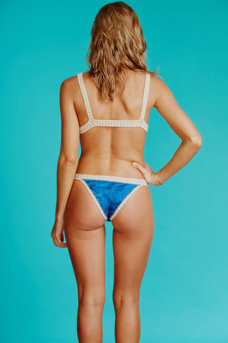 CAPITTANA Kaluha Reversible Bikini Bottom Bikini Bottom | Diamond Print|