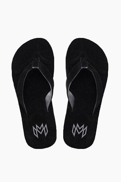 MALVADOS Jack Suede Slides (Men's) - Onyx Mens Sandals | Onyx|