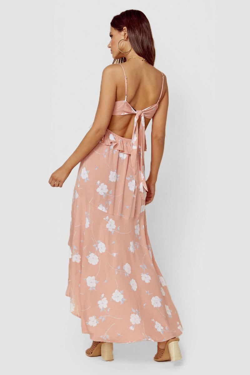 BLUE LIFE Joli Maxi Dress - Bright Peach Dress | Bright Peach| Blue Life Joli Maxi Dress Back View