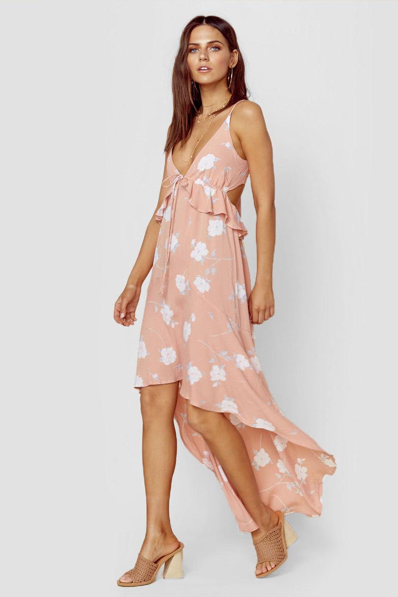 BLUE LIFE Joli Maxi Dress - Bright Peach Dress | Bright Peach| Blue Life Joli Maxi Dress Front View