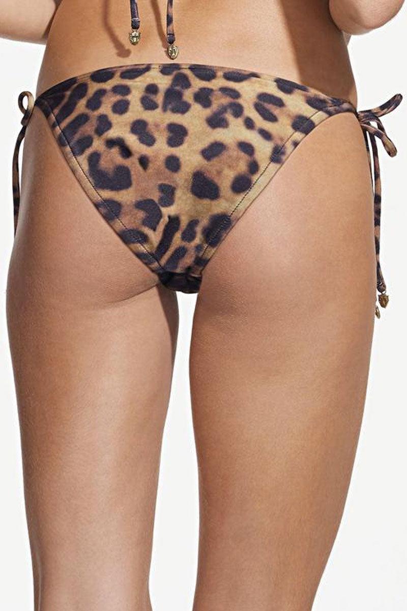 ROSA CHA Bossa Nova Tie Side Bikini Bottom - Leopard Animal Print Bikini Bottom | Leopard Animal Print| Rosa Cha Bossa Nova Tie Side Bikini Bottom - Leopard Tie Side Bikini Bottom Leopard Animal Print Coverage Leopard Print 85.5% Polyamide 14.5% Elastane / Lining: 84% Polyamide 16% Elastane Back View