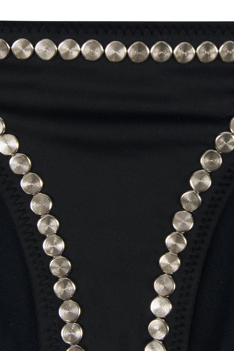 NORMA KAMALI Stud Eric Bottom - Studded Black Bikini Bottom | Studded Black|